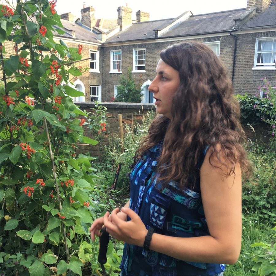 Nat at Cordwainers Garden, Hackney. Photo: Sara Heitlinger